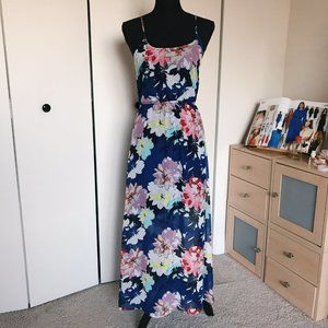 Flotal Maxi Dress with back opening